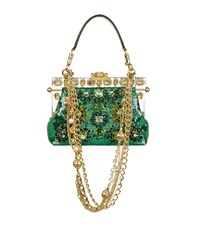 Dolce And Gabbana Embellished Sequin Clutch Female Green