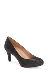 Women's Naturalizer 'Michelle' Almond Toe Pump Black Pewter Snake Fabric