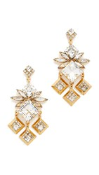 Elizabeth Cole Maison Earrings Golden Crystal