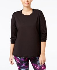Ideology Plus Size Base Layer Space Dyed Top Only At Macy's Noir