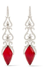 Stephen Webster La Belle Epoque 18 Karat White Gold Multi Stone Earrings
