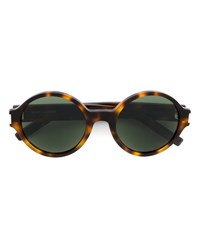Saint Laurent Round Tortoiseshell Sunglasses Brown