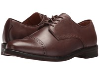 Polo Ralph Lauren Morgfield Dark Brown Burnished Leather Men's Lace Up Cap Toe Shoes