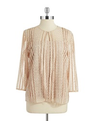 Alex Evenings Sequin And Lace Cardigan Set Cosmetic