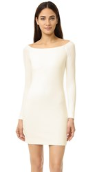 Tibi Off Shoulder Crepe Dress Ivory