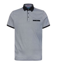 Ted Baker Graphic Printed Polo Shirt Male Grey
