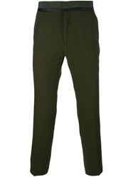 Haider Ackermann Slim Fit Tailored Trousers Green