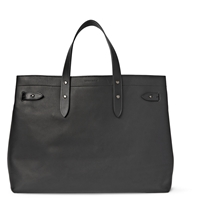 Tomas Maier Matte Leather Tote Bag Black