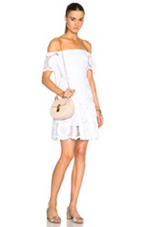 Nicholas Sunflower Off Shoulder Dress In White