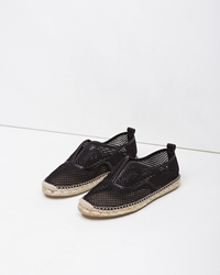 Flamingos Jetset Basket Woven Espadrille Black