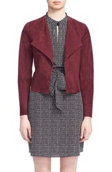 Kate Spade Women's New York Draped Suede Jacket Midnight Wine