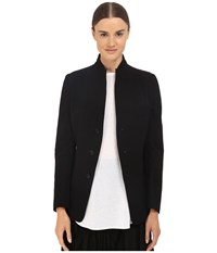 Y's By Yohji Yamamoto U Stand Up Collar Reversible Blazer Jacket Black