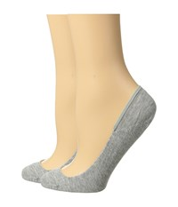 Cole Haan 2 Pair Ballet Liner Oxford Heather Women's Crew Cut Socks Shoes Silver