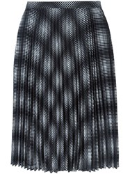 Michael Michael Kors Checked Pleated Skirt Blue