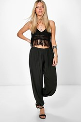 Boohoo Slouchy Trousers Black