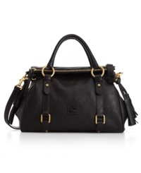 Dooney And Bourke Florentine Vachetta Small Satchel Black Black