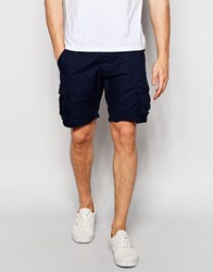 Selected Homme Cargo Shorts Navy Blue