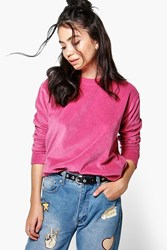 Boohoo Velour Sweater Pink