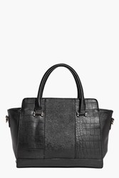 Boohoo Structured Day Bag Black