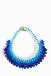 Del Duca Women S Gina Collar Necklace Boutique1 Blue