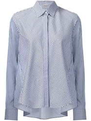 Adam By Adam Lippes Trapeze Button Down Shirt Blue