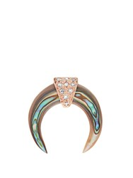 Jacquie Aiche Diamond Abalone And Rose Gold Earring Rose Gold
