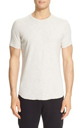 Wings Horns Men's Ribbed Slub Cotton T Shirt Heather Ash
