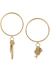 Chloe Set Of Two Gold Tone Charm Bracelets