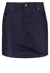 Morgan Denim Skirt Marine Dark Blue
