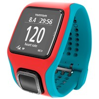 Tomtom Runner Cardio Gps Running Watch With Heart Rate Monitor Cloned Turquoise Red