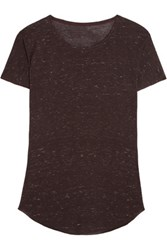 Iris And Ink Luisa Slub Jersey T Shirt Merlot