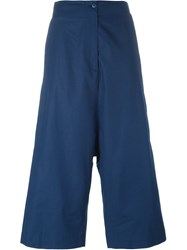 I'm Isola Marras Cropped Drop Crotch Trousers Blue