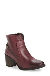 Bos. And Co. Women's 'Fallon' Waterproof Bootie Red Vintage Monza Leather