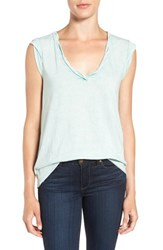 Pam And Gela Women's 'Kate' V Neck Tee Mint