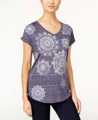 Styleandco. Style Co. Medallion Graphic T Shirt Only At Macy's Industrial Blue