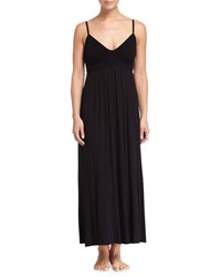 Donna Karan Sleeveless Bralette Long Nightgown Black
