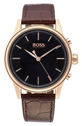 Boss Smart Classic Leather Strap Watch 44Mm