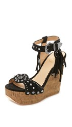 Ash Bliss Wedge Sandals Black Desert