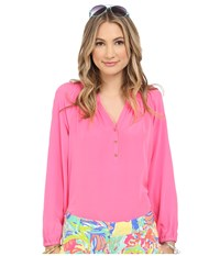 Lilly Pulitzer Elsa Top Flamingo Pink Women's Blouse