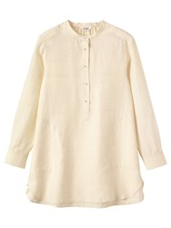 Toast Silk Khadi Tunic Shirt Off White