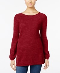 Styleandco. Style Co. Petite Boat Neck Swing Sweater Only At Macy's New Red Amore