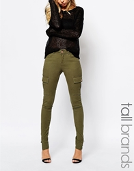 Noisy May Tall Skinny Cargo Pants Khaki