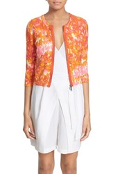 Women's Tracy Reese Front Zip Cotton Cardigan