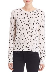 Equipment Kate Moss Star Ryder Knit Cashmere Sweater Ivory Black