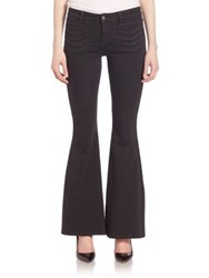 Free People Stella High Rise Flared Jeans Black