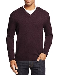 Bloomingdale's The Men's Store At Cashmere V Neck Sweater Raisin