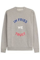 Etre Cecile In Fries We Trust Boyfriend Sweatshirt Grey