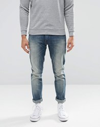 Wrangler Larston Slim Tapered Jeans Light My Fire Blue