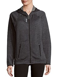 Reebok Heathered Long Sleeve Jacket Black Heather