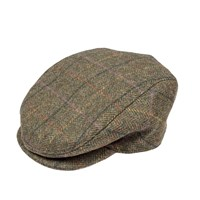 Dents Mens Flat Cap In Abraham Moon Tweed Green